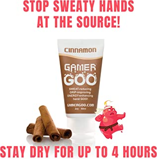 Gamer Goo Antiperspirant Dry Grip for Sweaty Hands – – Anti Sweat Hand Lotion – – FDA-Approved Ingredients, Non Sticky, Non-Toxic, TSA Travel Safe, Made in USA - 2 oz. (60mL)
