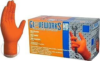 AMMEX GWOR44104E0BX Guantes de nitrilo desechables de color