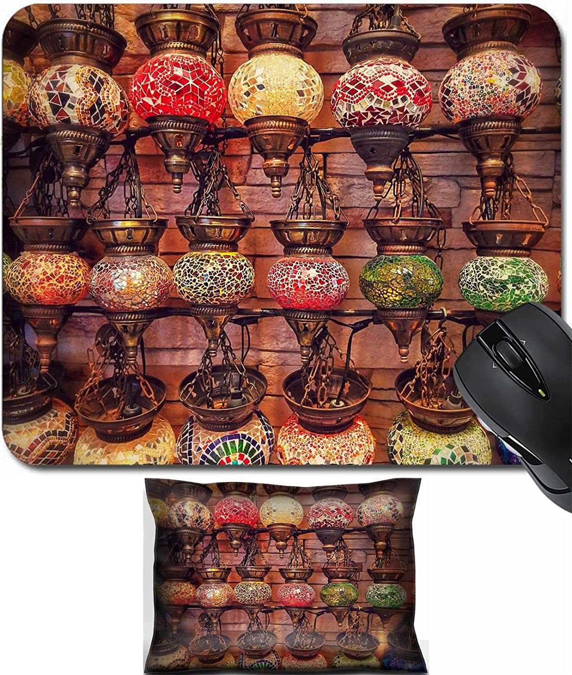 MSD Mouse Wrist Rest and Small Mousepad Set, 2pc Wrist Support design: 30645917 Turkish lamps