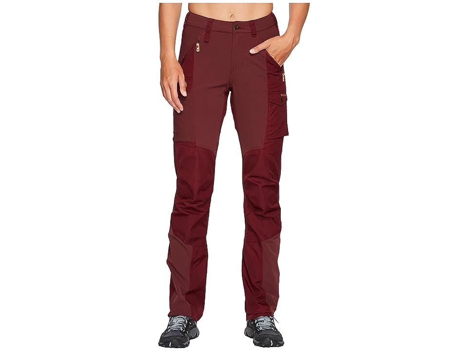 Fjallraven Nikka Curved Trousers (Dark Garnet) Women