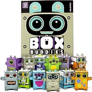 Box Buddies Galactics - Pack de 12 minicajas de exploradores de Espacio - Divertidos Recuerdos de Papel para Fiestas