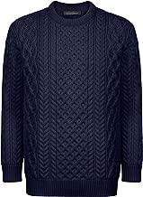 Donegal 100% Irish Merino Wool Blasket Unisex Aran Sweater by Ireland's Eye Knitwear