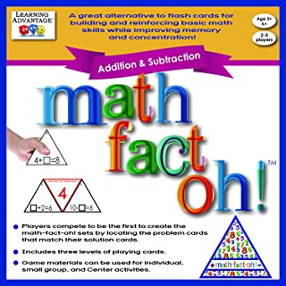 Learning Advantage 2163 math-fact-oh! Addition and Subtraction Game, Minimum Recommended Grade: Kindergarten