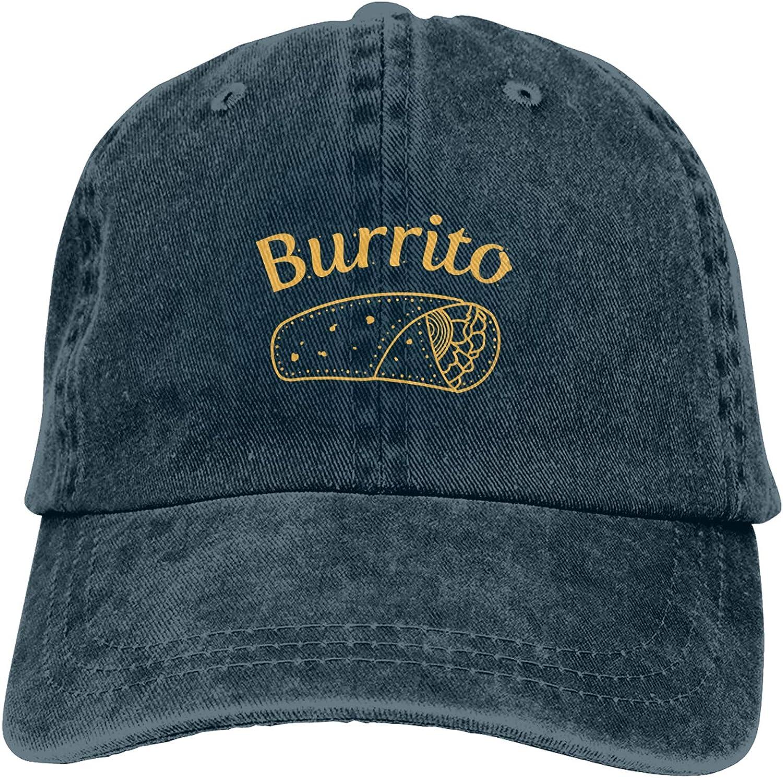 WAYMAY Burrito Taco Unisex Adjustable Cowboy Hat Adult Cotton Baseball Cap