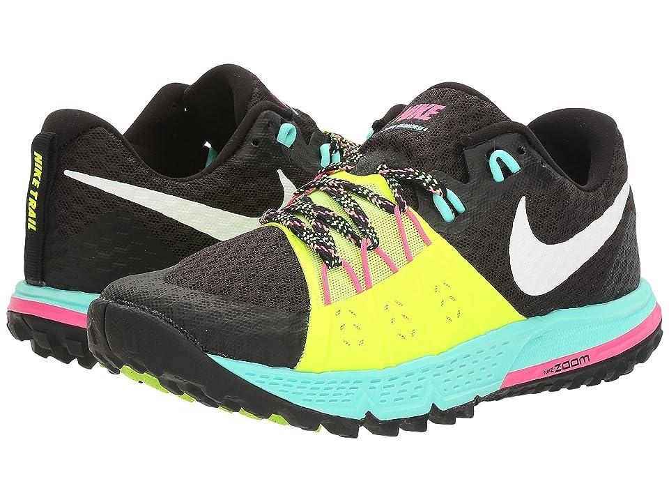 Nike Air Zoom Wildhorse 4 (Black/White/Volt/Hyper Turquoise) Women