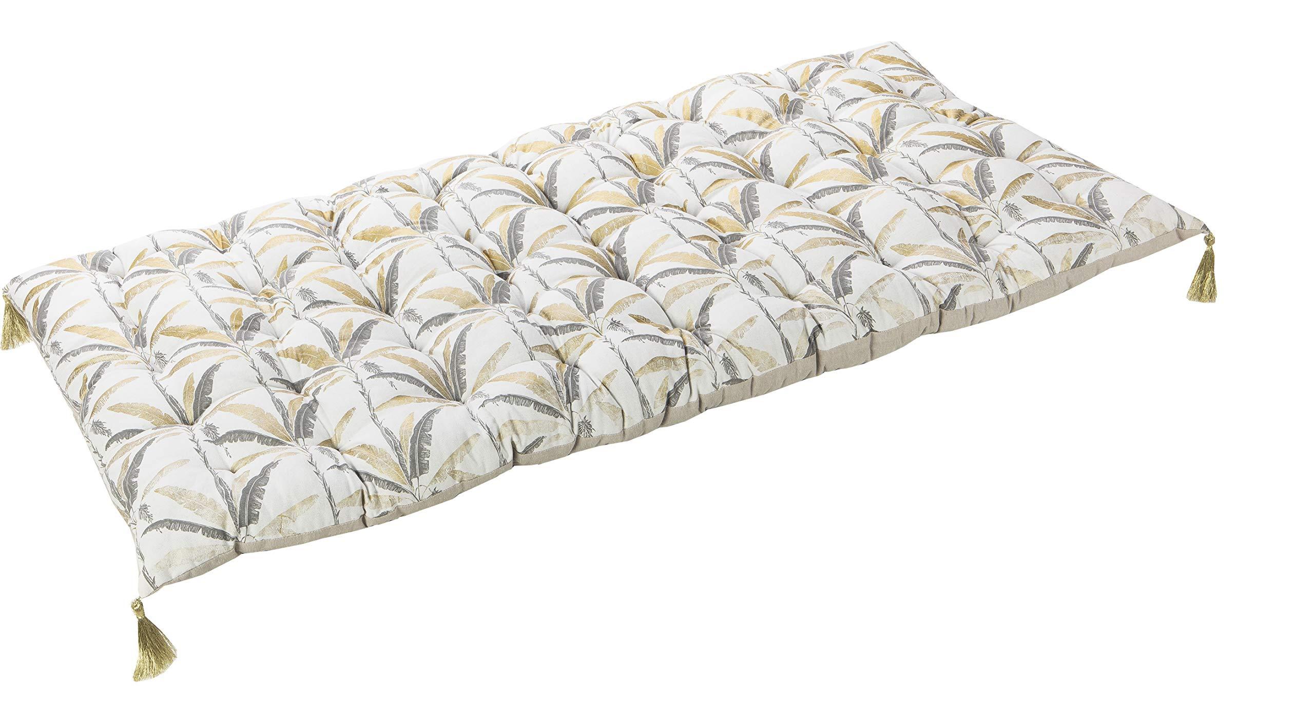 Deco and Co - Decoración Interior Natural (futón/algodón de Suelo, Relleno / 100% algodón, Estampado, 60 x 120 cm): Amazon.es: Hogar