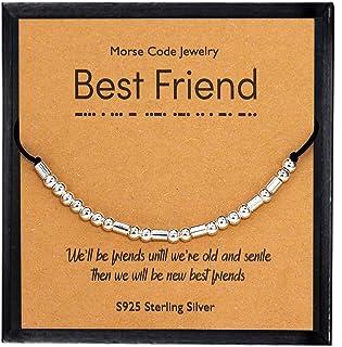 YooAi Braccialetti dell'amicizia del Braccialetto del codice Morse Braccialetti dell'argento sterlina 925 su Regalo dei Gi...
