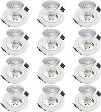 SEBSON 12x Inbouwspot incl. GU10 LED Lamp 3,5W - Boorgat Ø65mm, Wit Mat Aluminium, Plafondspot Ø80x24mm