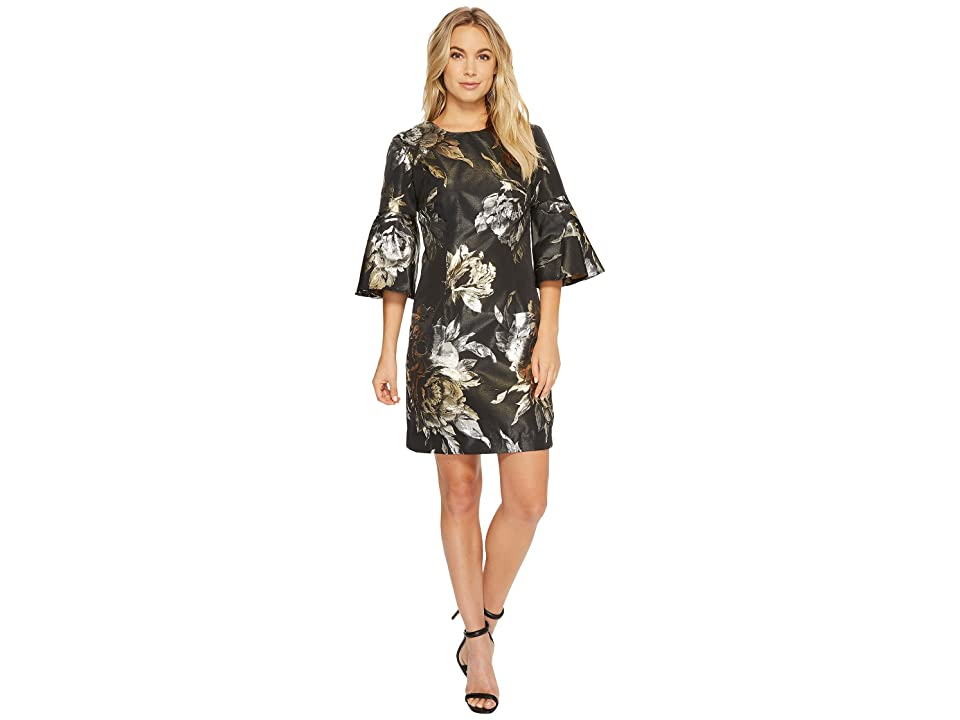 Trina Turk Rachelle Dress (Black/Gold) Women