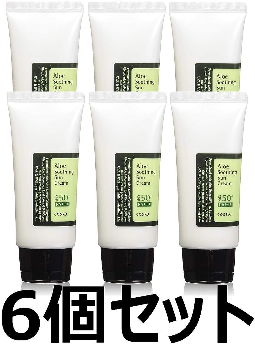 ステップどれか委託(6 Pack) COSRX Aloe Soothing Sun Cream (並行輸入品)