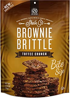 Brownie Brittle, Toffee Crunch, 2.75 Oz (8 Count), The Unbelievably Rich and Delicious Chocolate Brownie Snack with Cookie A Crunch (Packaging May Vary)