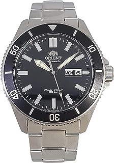 ساعة اوتوماتيكية بمينا اسود ستانلس ستيل للرجال من اورينت RA-AA0008B09C