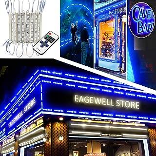 EAGWELL Storefront Lights, 40 Ft 80 Pieces Store Window LED Lights 4 Sets 5054 LED Light Module Blue Sign Light (5050 Upgraded Version Window Lights)
