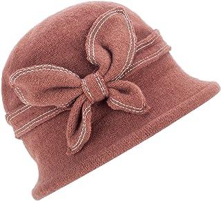 1920s Gatsby Womens Wool Warm Beanie Bow Hat Cap Crushable A286