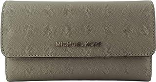 Michael Kors Jet Set - Portafoglio grande da viaggio, pieghevole in tre parti, da donna - grigio - Large