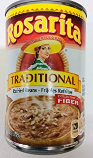 Rosarita Traditional Mexican Style Refried Beans - Gluten Free - 16 Ounce (Pack of 2)
