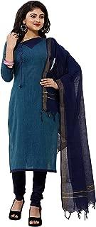Minu salwar Cotton Printed Suit sets Navy Blue(Coolhandloom_1001)