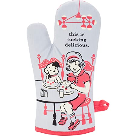 """Blue Q Oven Mitts, This is F--king Delicious., 1 Glove 8"""""""