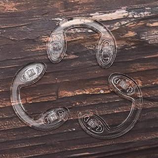 DAUERHAFT - Accesorios para gafas para niños sin deformación 20 pares de almohadillas de silicona en forma de U para evitar la indentación