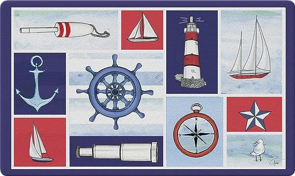 Toland Home Garden 800402 Nautical Collage Doormat 18 X 30 Multicolor