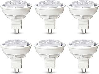 AmazonBasics Commercial Grade LED Light Bulb | 35-Watt Equivalent, MR16, Soft White, Dimmable, 6-Pack