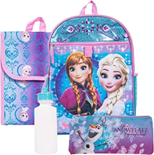 Disney Frozen Backpack Combo Set - Disney Frozen 5 Piece Backpack School Set - Anna & Elsa
