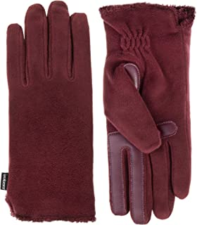ISOTONER womens 30124 Stretch Fleece Touchscreen Texting Cold Weather Gloves With Warm, Soft Lining Cold Weather Gloves