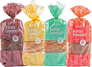 Kiss My Keto Bread — Zero Carb Bread (0g Net), 6g Protein / Slice | Sugar Free, Low Carb Bread | Low Calorie, No GMOs, Soy...