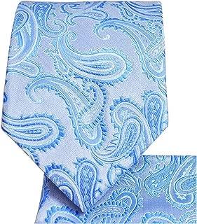 Paisley Pattern Necktie & Matching Pocket Square Handkerchief Set