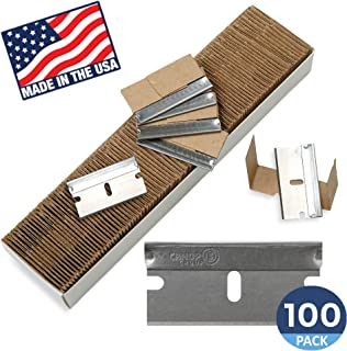 Single Edge Razor Blades, Disposable Box Cutter Safety Razor, Paint Scraper Razor Blades By Canopus (100 Pack) - Fits ALL Standard Tools -%100 Made in USA
