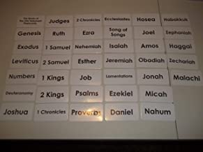 Books of the Old Testament Laminated Flashcards.