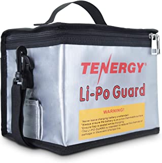 Tenergy Fireproof and Explosion-Proof Lipo Safe Zipper Bag, with Detachable Should Strap, Battery Bag for Safe Charging an...