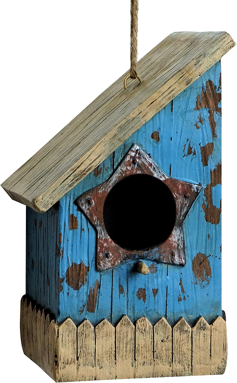 Harmony Fountains The Prairie House 9  Birdhouse  Rustic Bird House. HFBH001