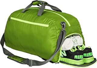 Riavika Travel Duffel Bag Backpack Luggage Gym Sports Bag with Shoe Compartment