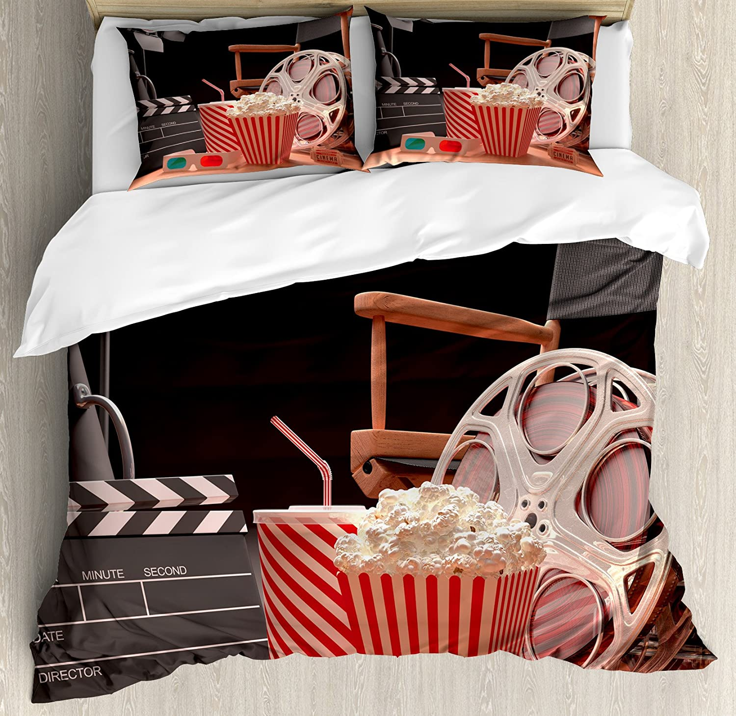 Ambesonne Movie Theater Duvet Cover Set Film quality assurance Objects of The shop Ind