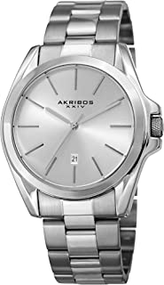Unisex Stainless Steel Bracelet Watch - Classy Easy to Read with Date Window - Choose from Multiple Color Dials - AK948