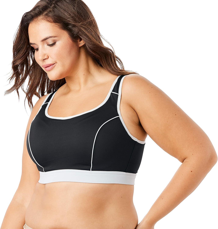 Comfort Choice Women's Plus Size High-Impact Underwire Sport Bra