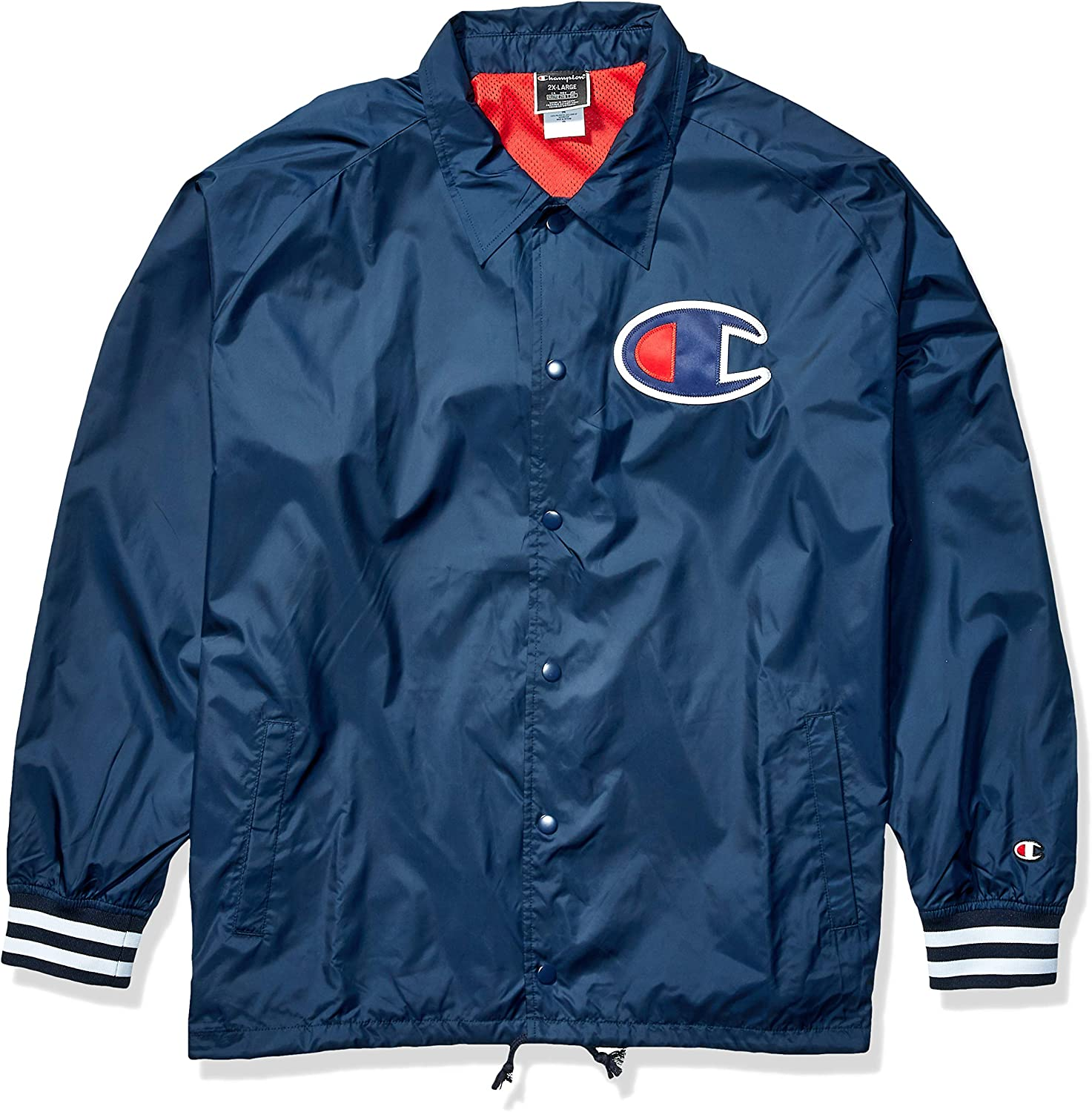 Champion Men's Satin Coaches Jacket with Ribbed Cuffs