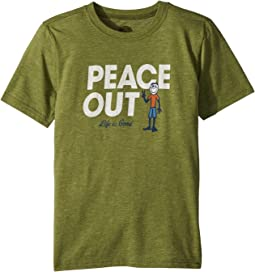 Life is Good Kids - Peace Out Jake Cool Tee (Little Kids/Big Kids)