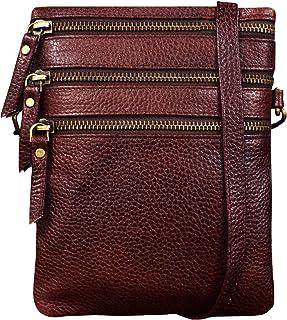 ABYS Genuine Leather Dark Brown Shoulder Bag||Sling & Cross-Body Bag||Messenger Bag For Men And Women
