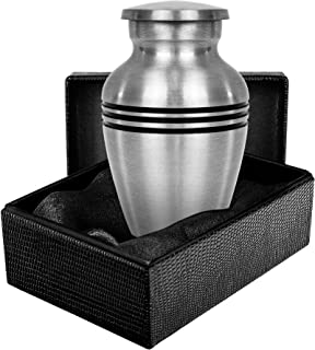Grace and Mercy Pewter Small Mini Keepsake Urn for Human Ashes - Qnty 1 - A Beautiful Humble and Comforting Quality Sharin...