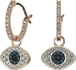 Duo Evil Eye Hoop Pierced Earrings