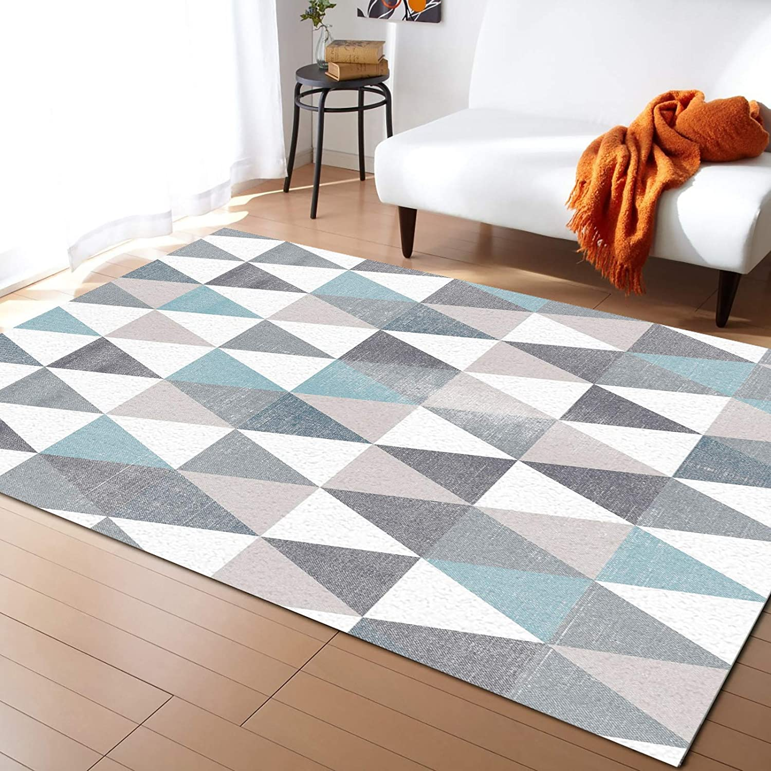 Caffling Modern Area Rugs Ranking TOP8 for Living Detroit Mall 3x5 Feet Geometric Room Re