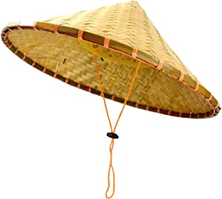 Chinese Bamboo Coolie Hat for Men Women