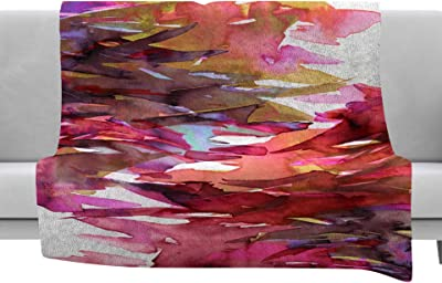 Purple Multicolor Painting Throw Kess InHouse EBI Emporium Natures Living Room 40 x 30 Fleece Blanket