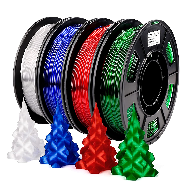 AMOLEN Mesa Mall 3D Printer Filament Bundle Clear PETG Wh Gifts 1.75mm