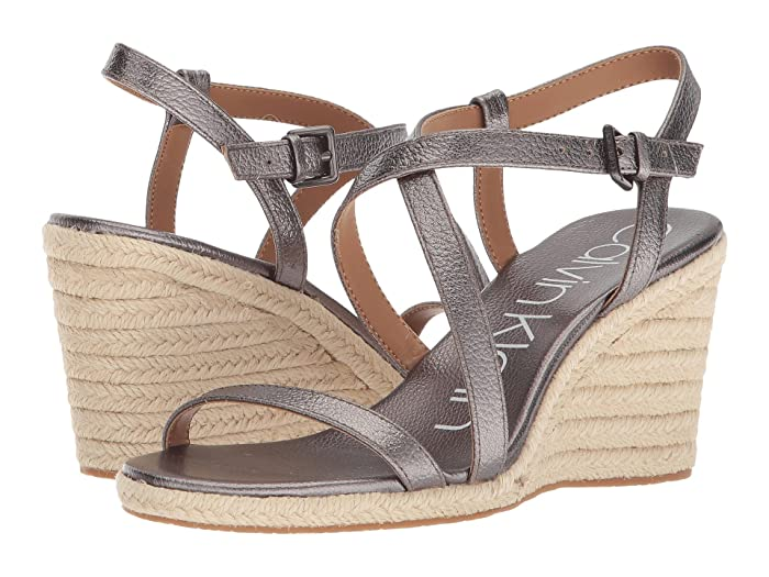 Bellemine Espadrille Wedge  Shoes (Anthacite) Women's Wedge Shoes