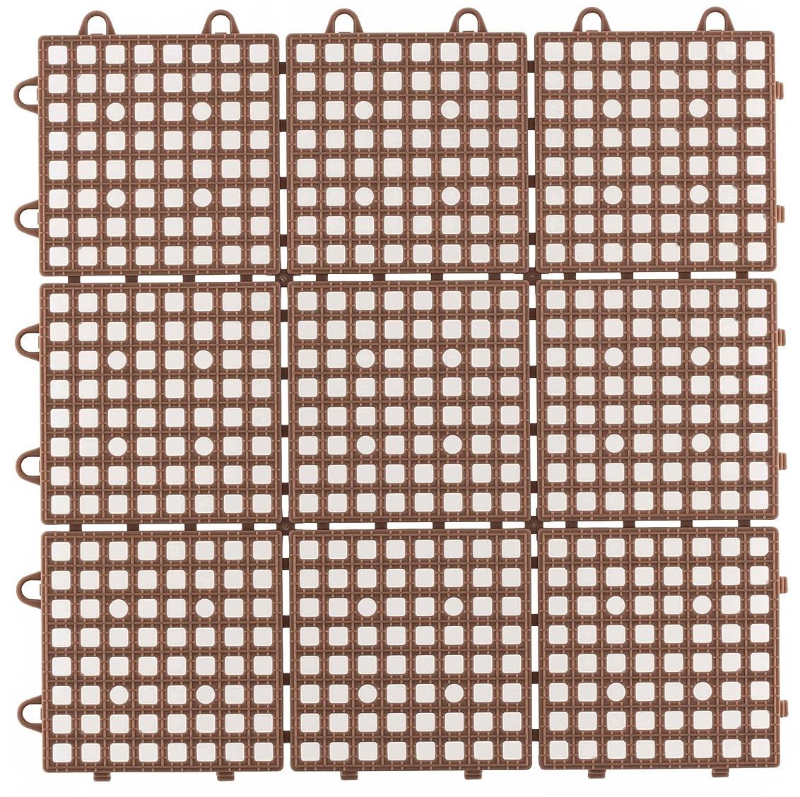 再編成するなめらかなラウズ日本製 システムスクエア 30枚セット ブラウン