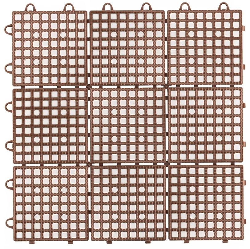 見える補償アシュリータファーマン日本製 システムスクエア 30枚セット ブラウン