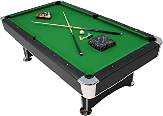 Sunnydaze 8-Foot Billiard Pool Table with Game Accessories, Ball Return and Leveling Feet